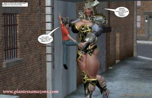 Giantess Amazons - Warrior and Pet by ilayhu2