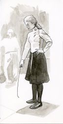 Inktober Day 1 - Grace Kelly Dressed for Fencing by warriorneedsfood