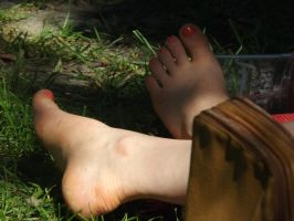 Feet In The Grass #2 by Neville6000