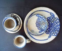 Blue flower table set by abflabby