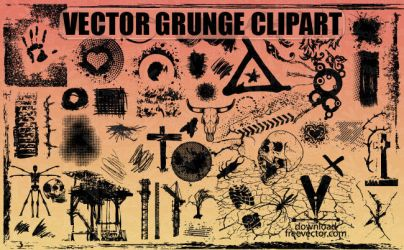 Free Vector Grunge Clipart by downloadfreevector