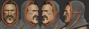 Knight Head Sculpt by polyphobia3d