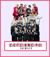 SEVENTEEN Render Pack by baemilks