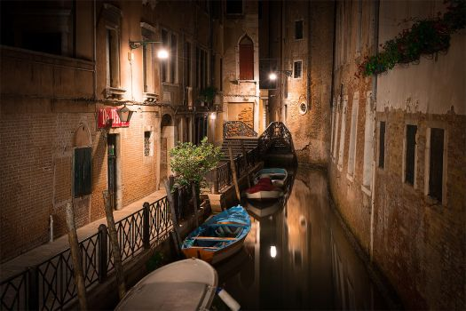 Venice at Night - 2 by StevenDavisPhoto