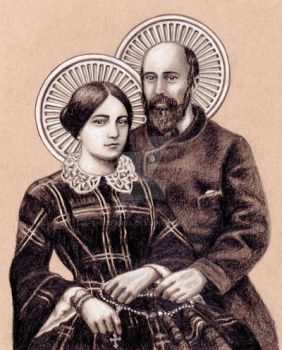 Saints Louis and Zelie Martin by Theophilia