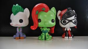 Custom Funko Pop Vinyl DC Villains Ponies! by ApplePie-Productions