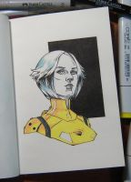 Yellow plugsuit by sai-kin