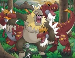 Slaking Kong vs Tyrantrum