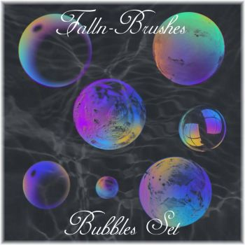 Bubbles Brushes Set by Falln-Stock