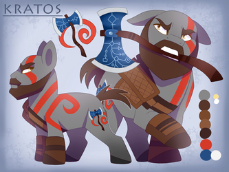 MLP Kratos ~ God of War by Dreaming-Roses