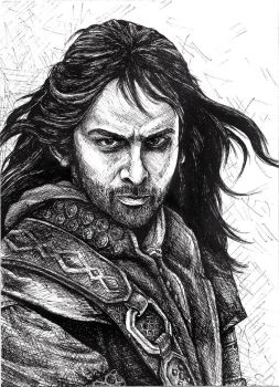 Kili in Ink by tlouey