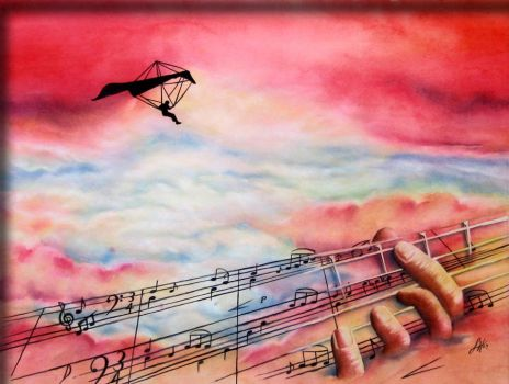 Music Gives You Wings by bcr8tive