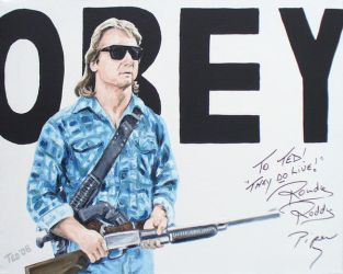 Obey signed by Roddy Piper by tdastick
