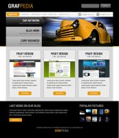 Black and Yellow Portfolio by Grafpedia