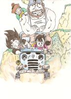 Drawings - Dragon Ball Z - Family Car's by razieldbz