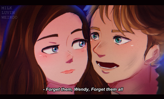 [Scene Redraw] Wendy + Peterpan by DatWeirdoWhoLuvsMilk