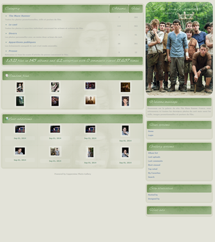 The Maze Runner Coppermine Gallery Theme by xBrokenRose