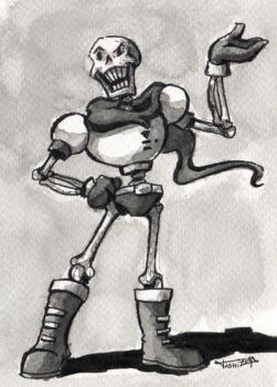 Papyrus fanart, pen and ink by tashizuna