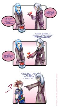 KH2 - What's a Valentine? by 8-13