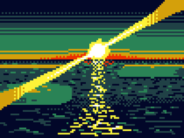 Pixelated sunset by Daydreamer194
