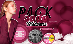 +PACK|2,000 WATCHERS|Muchas Gracias by Pohminit