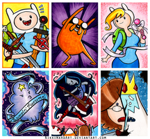 Adventure Time Sketch Cards by NikkiWardArt