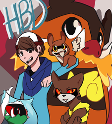 The Very Red Squad - Happy Birthday Zerochan! by Liauditore