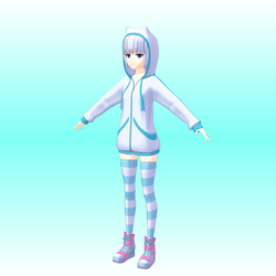 WIP: ImagineGirls R1N4 V2 - default costume by kafuji