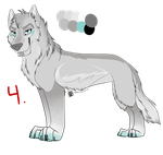 Wolf Auction #4 Adopt: MissAsiah by IzzyShea