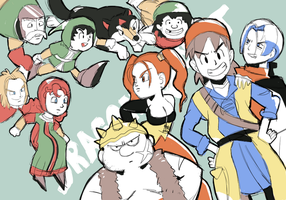 Dragon Quest VII and VIII by RamyunKing