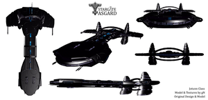 Stargate - Asgard - Jotunn Class (original design) by guandigs