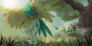 Decidueye and Rowlet