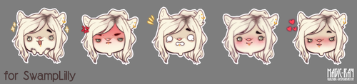 Auction Chibis Emoji: SwampLilly by Magic-Ray