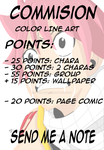 Commision POINTS info by stagadw
