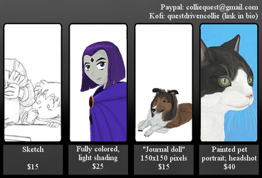 updated commission sheet by Colliequest