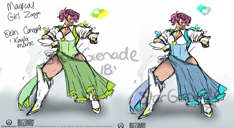 Magical Girl Zarya Skin Concept by StarGrenade