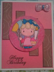 Happy Birthday Pink and Brown Handmade Card by SeasonablyCute