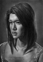 Grace Park (Graphite pencil drawing) by Angelstorm-82