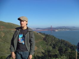Me at Golden Gate Bridge by Onemadmax