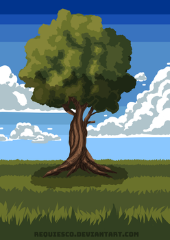 Super Simple Tree by requiesco