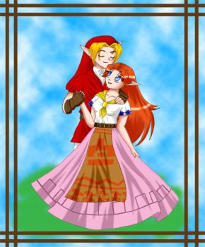 Link and Malon for RedElkMage by TheHeroine