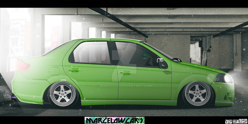 Fiat Siena Hlx 1.6 stanced fitment by marcelux