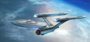 USS Enterprise - Discovery Era by thraxllisylia
