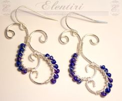 Silver Scroll Earrings by Aeltari