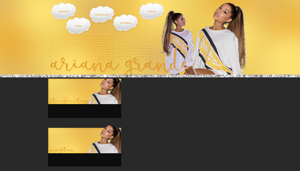 Free Layout ft. Ariana Grande by Kate-Mikaelson