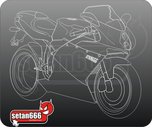MV Augusta F4 in sketch by setan666