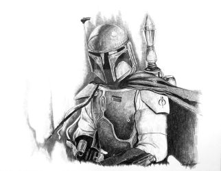 Boba Fett Ballpoint Pen by OMKDrawings