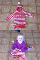 Coral fana tunic, 2 years by KnitLizzy