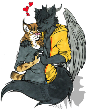 ((Gift Art)) Lovely furfags by Franken-Fish
