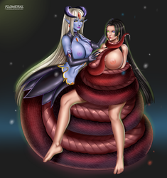 Boa Hancock and Alice by Flowerxl by Violet-Scales
